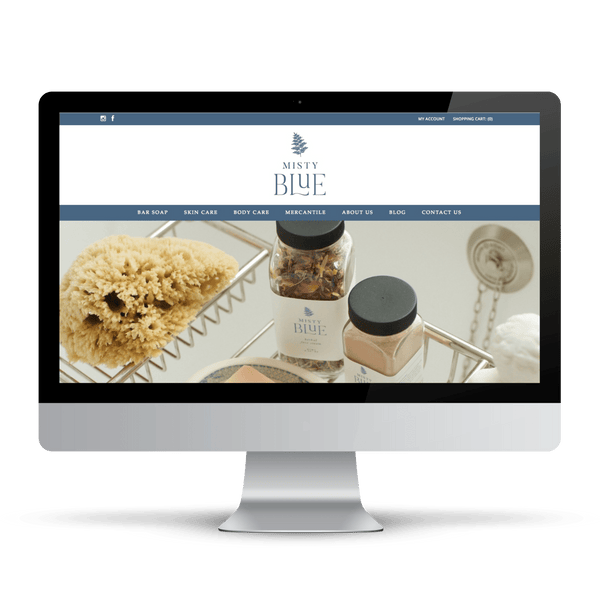 Shopify website for natural skincare