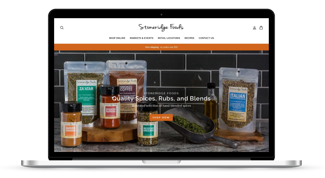 Shopify site for spice company