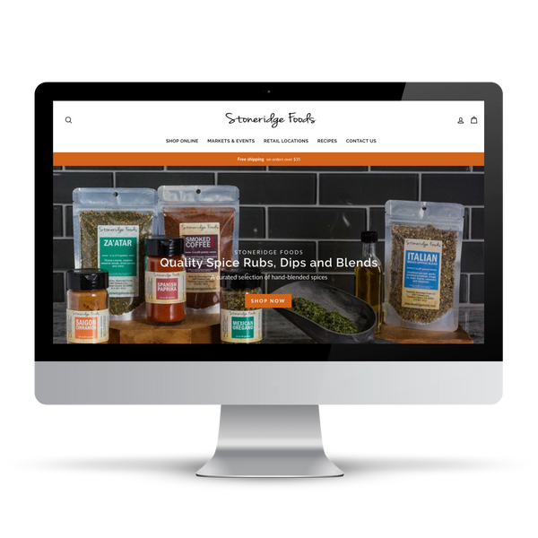 Shopify website for food company