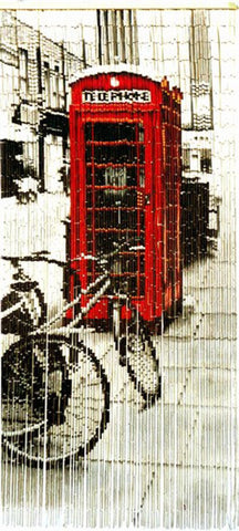 British Phone Booth Beads