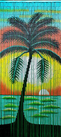 Sunset Palm Tree Doorway