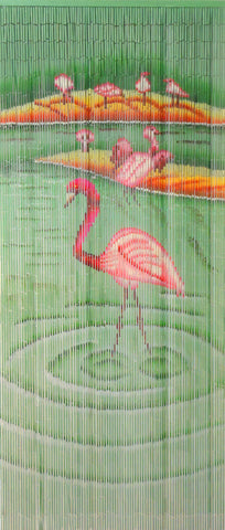 'Pink Flamingo' Bamboo Beads
