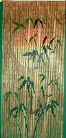 'Sunset' Bamboo Doorway Curtain