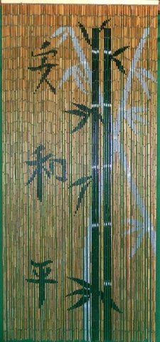Chinese Characters Bamboo Doorway
