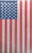 American Flag Bamboo Curtain