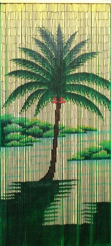 Bamboo Curtain with Lonely Palm 5290