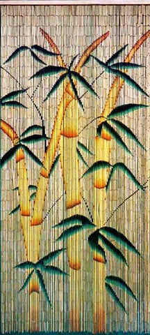 Bamboo Curtain with Bamboo Trees