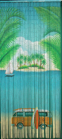 125 Strands Bamboo Curtain 'Surfer Paradise'