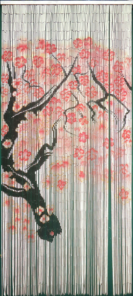 125 Strands Bamboo Door Beads 'Cherry Blossom Branch'