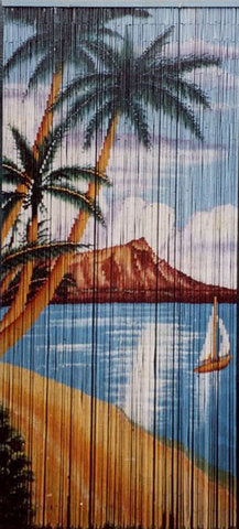 Waikiki Beach Painted Curtain