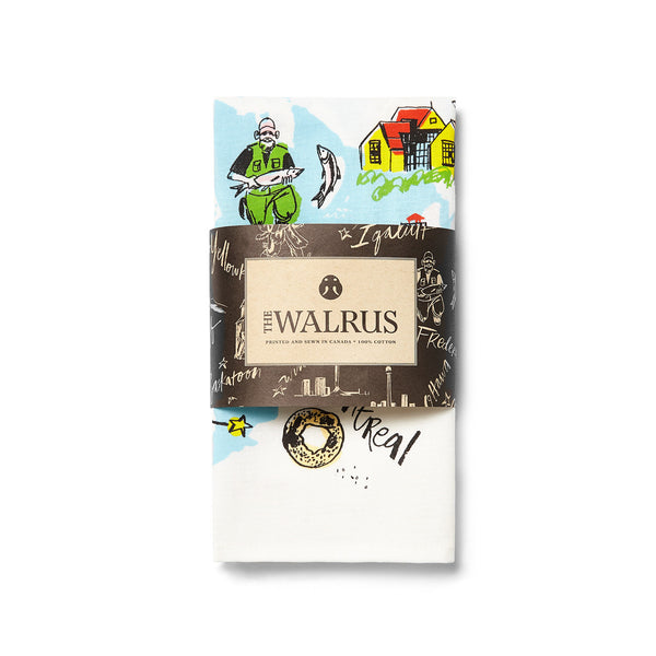 Walrus National Tour Commemorative Tea Towel: 2 for 30$