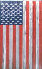 'American Flag' Bamboo Curtain