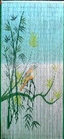 'Love Bird' Bamboo Curtain