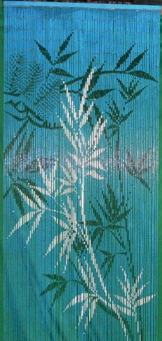 'Blue Bamboo' Bamboo Curtain