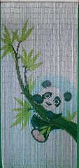 'Cute Panda Bear' Bamboo Curtain
