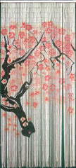 'Cherry Blossoms' Bamboo Curtain with 125 Strands