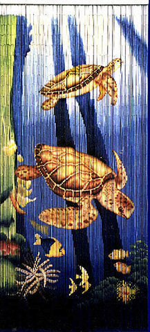 Reef Turtles Bamboo Door Beads