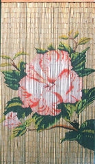 Bamboo Doorway with Flower