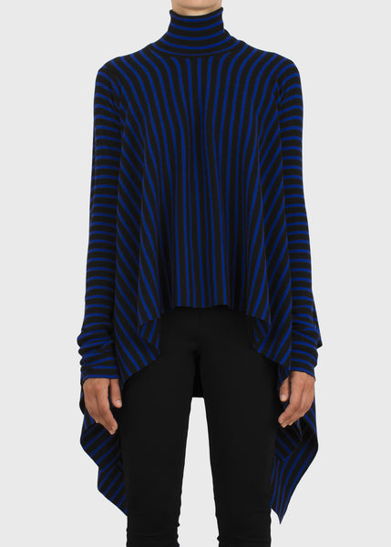 ashlar top - cobalt stripe