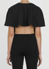 circle crop top - black