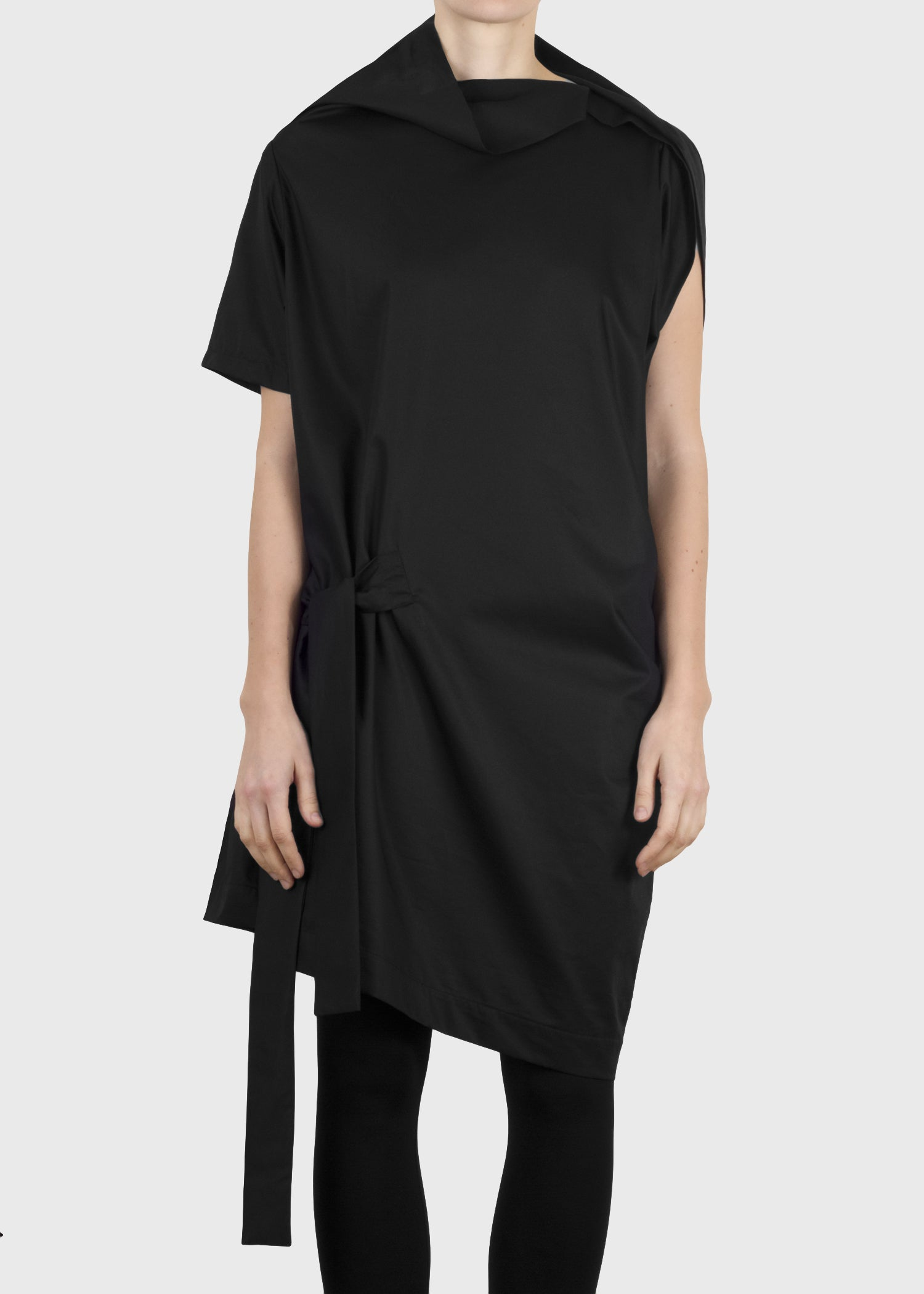 crimp tunic - black
