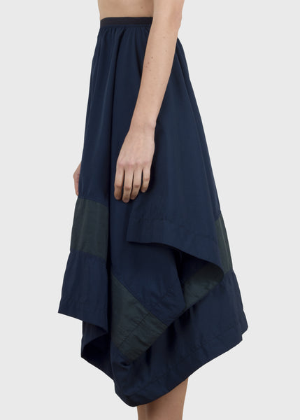 divide skirt - blue and green