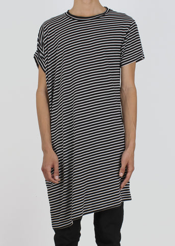 ebb tunic - b&w stripe
