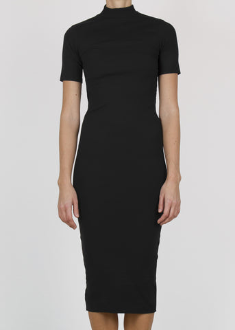 grip dress - black