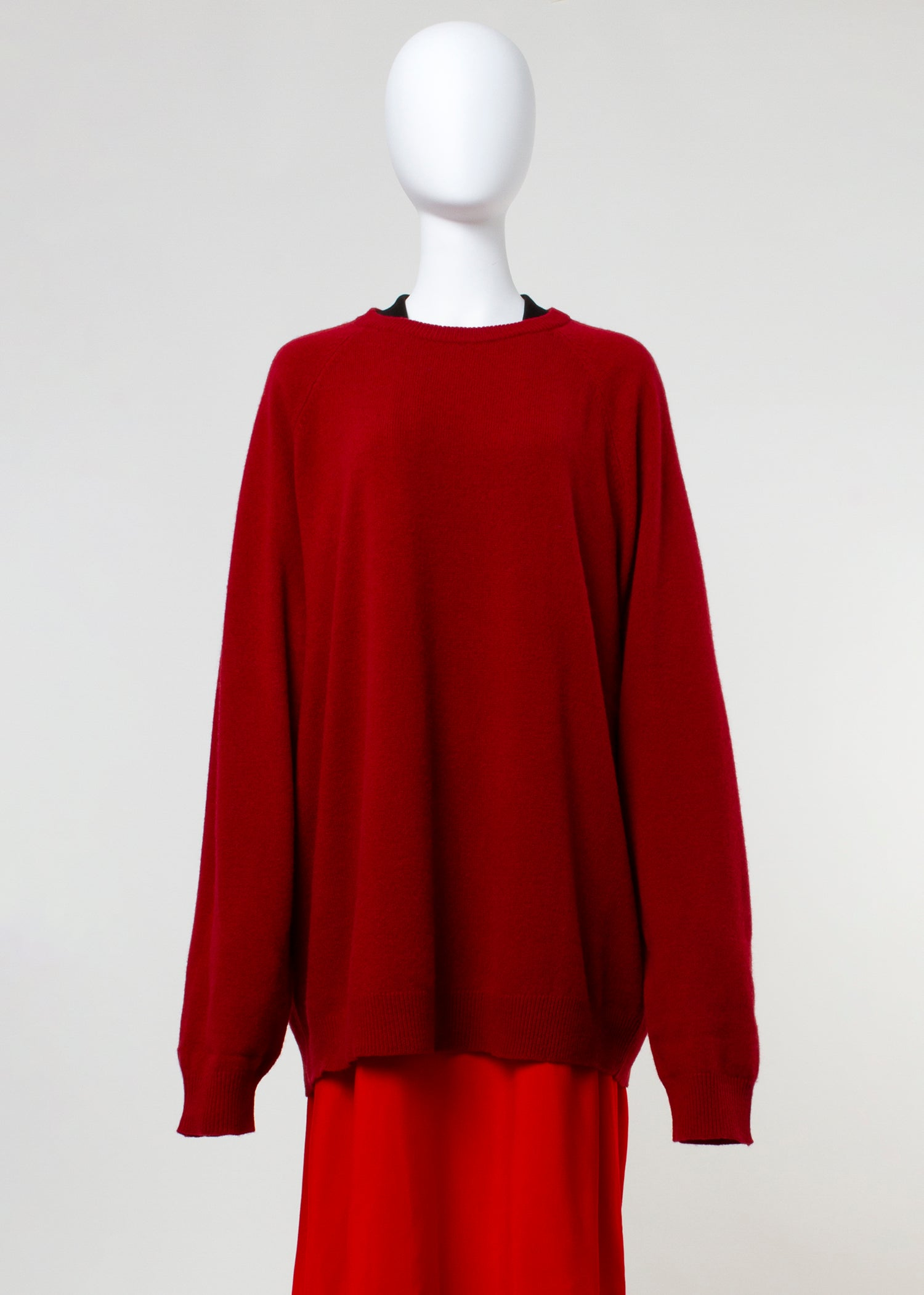 latch sweater - red
