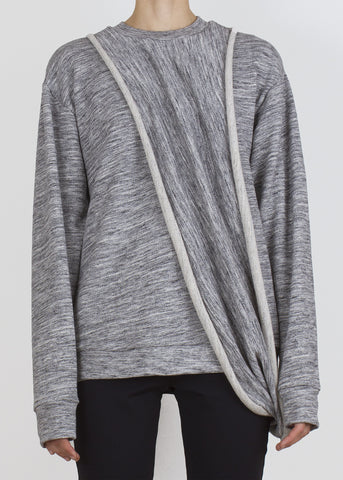 compass sweatshirt - dark grey heather