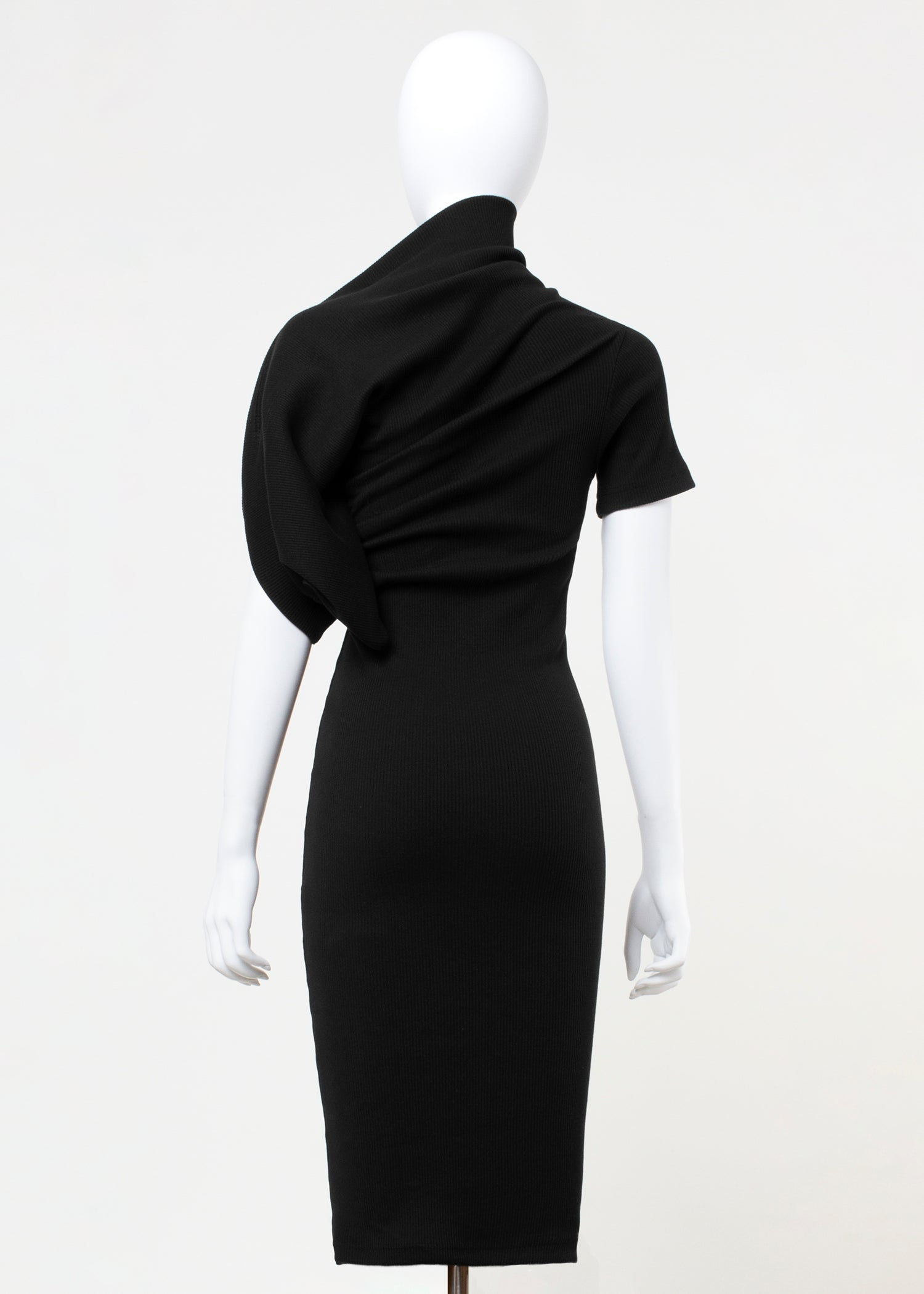 penn dress - ribbed black
