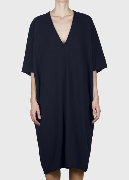 plunge dress - midnight