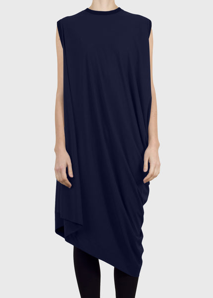 rhombus dress - navy