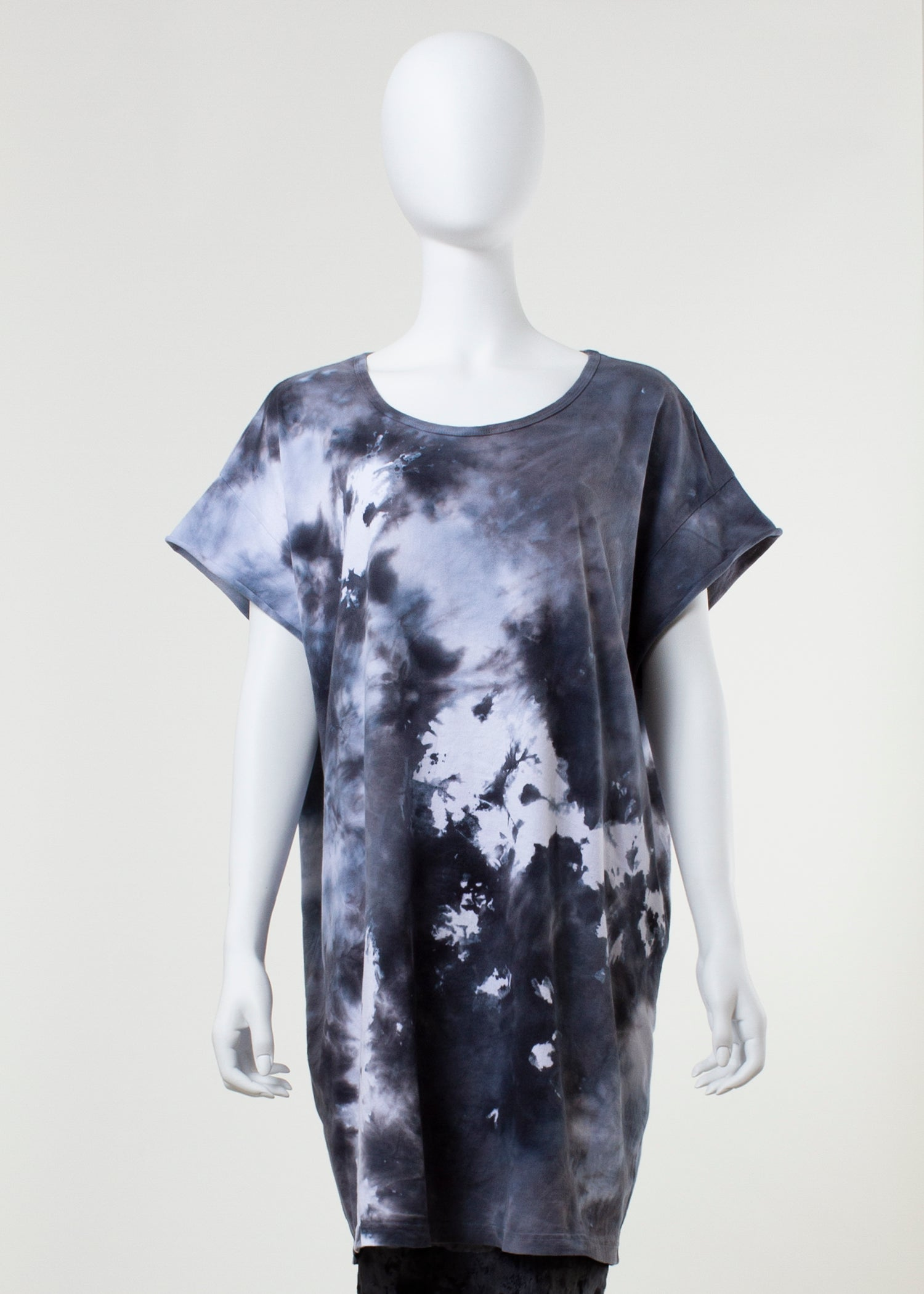 scheme tunic - black ice dye