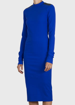 serpent dress - cobalt