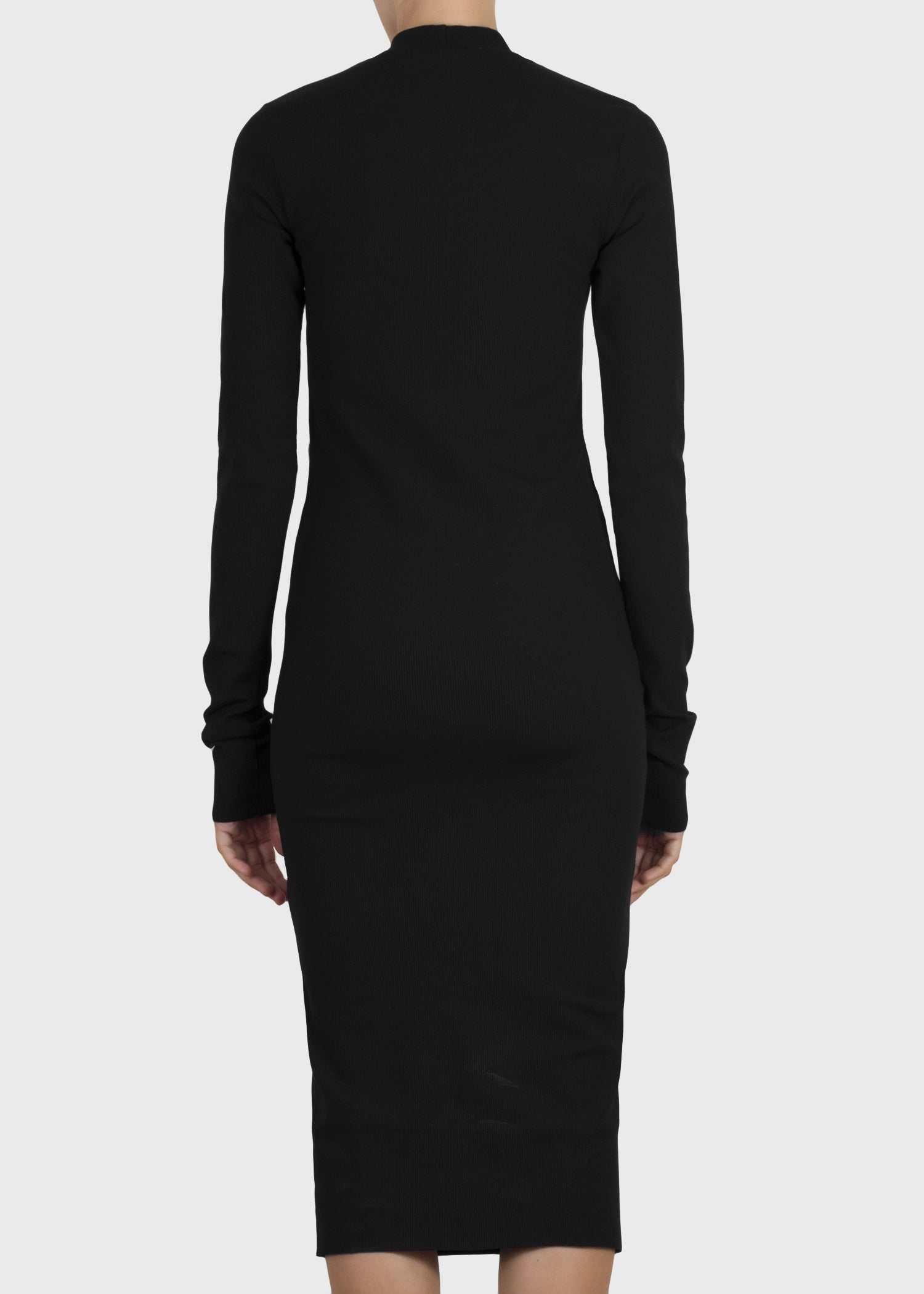 serpent dress - black