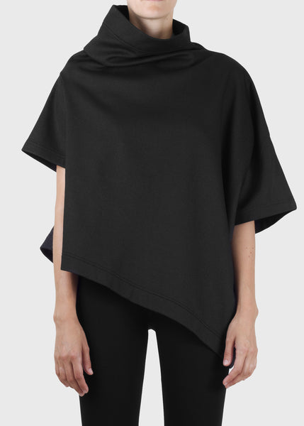 stack sweatshirt - coated black