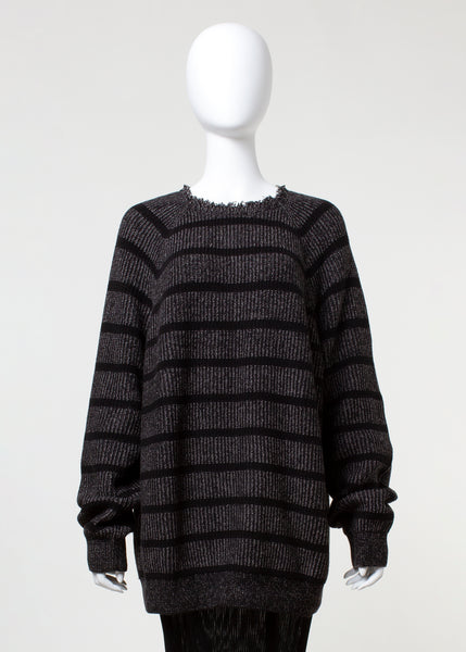surge sweater - black stripe