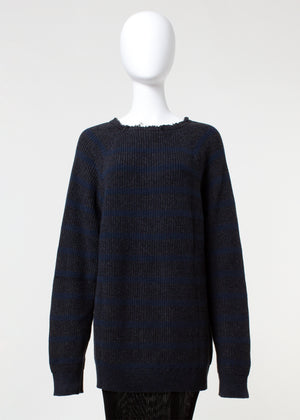 surge sweater - navy stripe