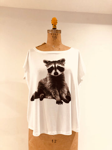 baby racoon-white $58