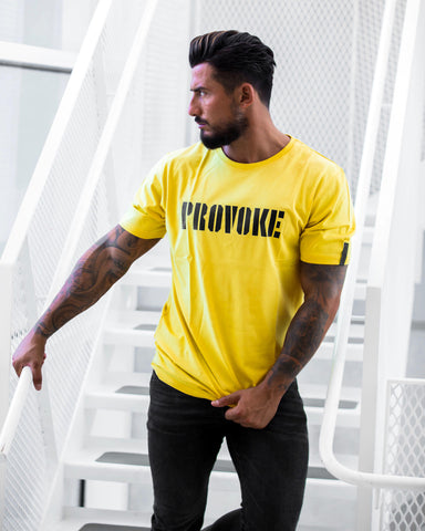 PROVOKE t-shirt, yellow/black