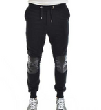 Black Sweatpants with leather patches