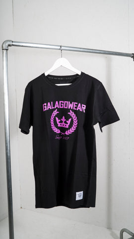 Black t-shirt with Purple logo