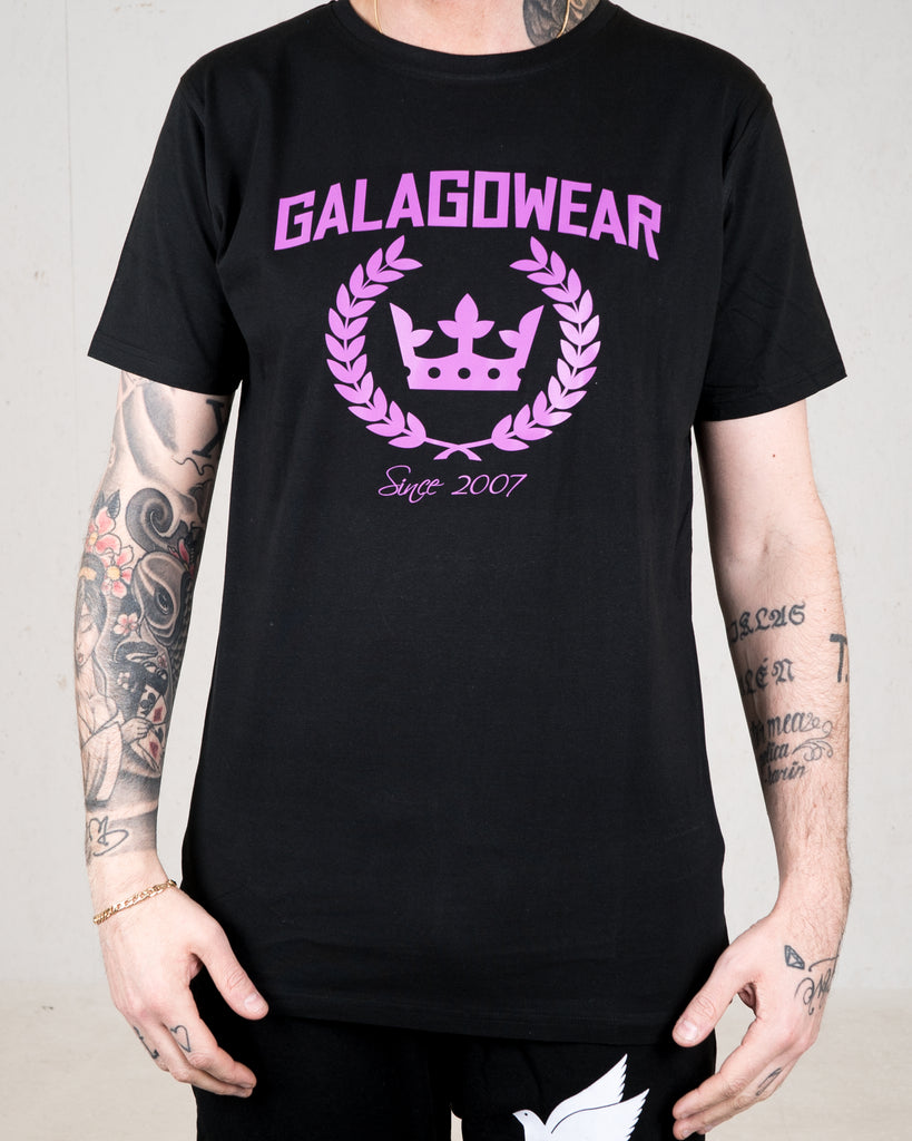 Logo tee - Black/Purple