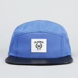 Fivepanel - blue/leather