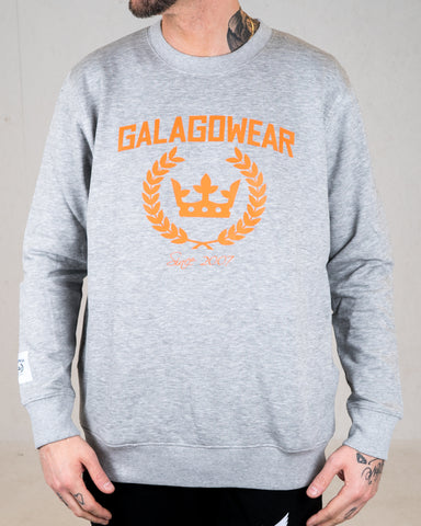 Logo sweatshirt - grey/orange