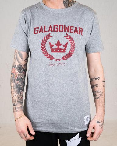Logo tee - Grey/Burgundy