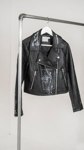Ros x Galagowear fake leather jacket