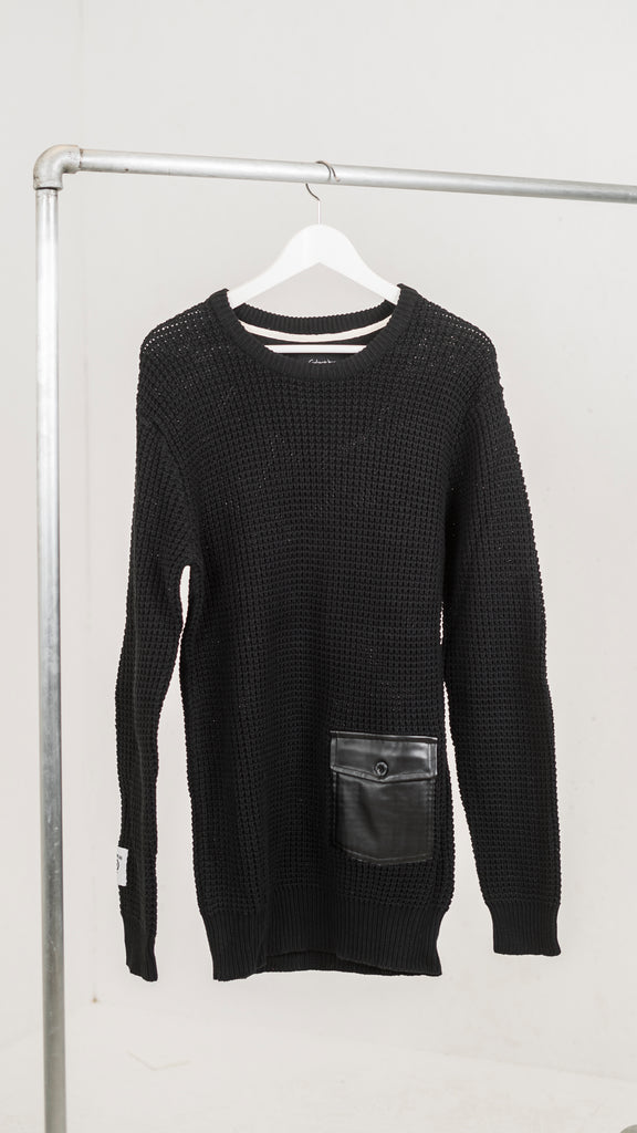 Knitted sweatshirt black