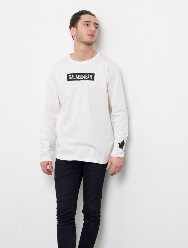 Long arm tee - white